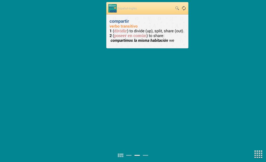 Vox Advanced EnglishSpanish Dictionary Screenshot 3