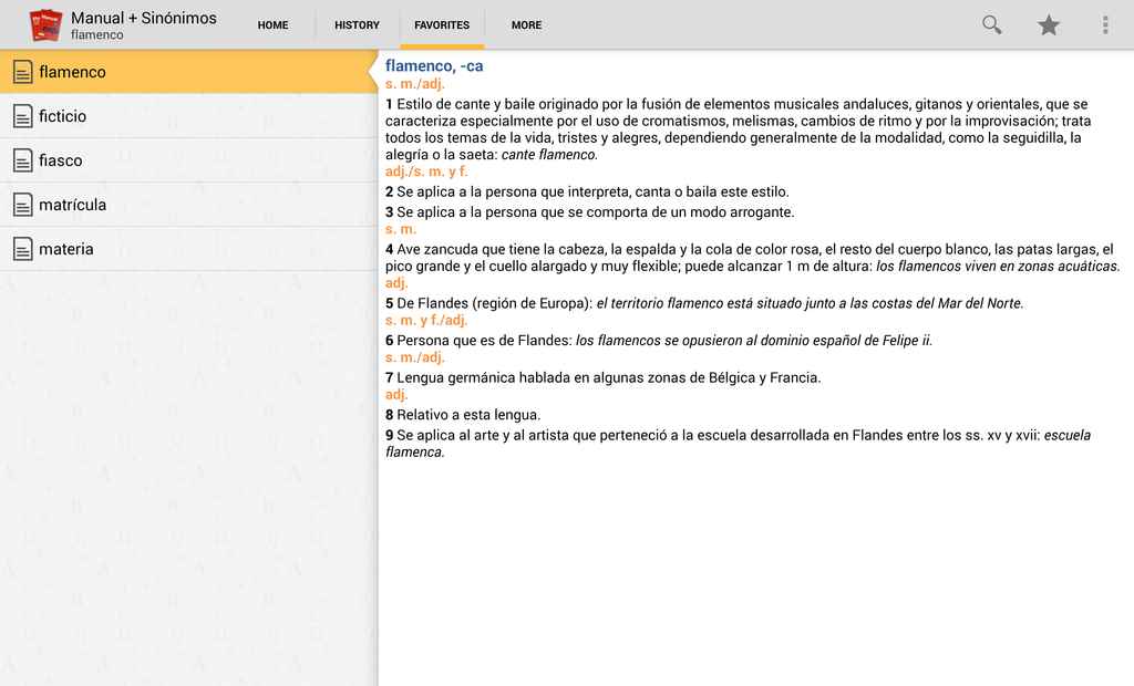 Vox Compact Spanish Dictionary and Thesaurus Screenshot 7