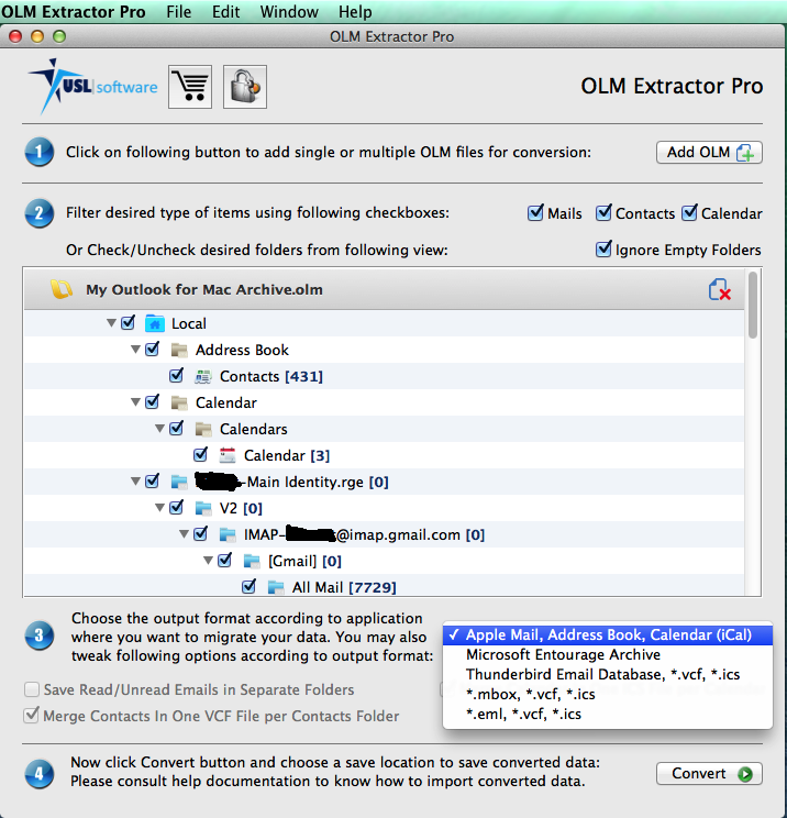OLM Extractor Pro Screenshot 2