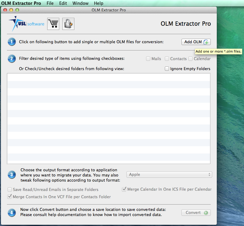 OLM Extractor Pro Screenshot 1