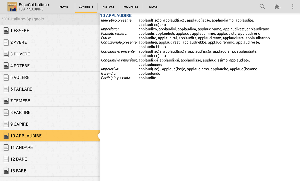 Vox Essential ItalianSpanish Dictionary Screenshot 5