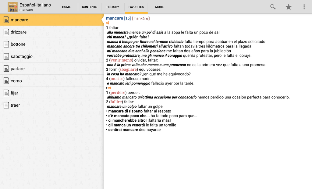 Vox Essential ItalianSpanish Dictionary Screenshot 6