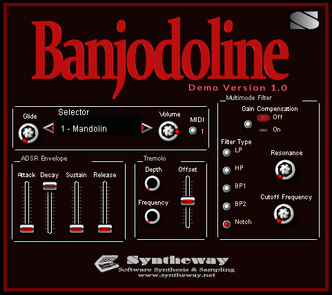 Banjodoline Virtual Banjo & Mandolin VSTi Screenshot