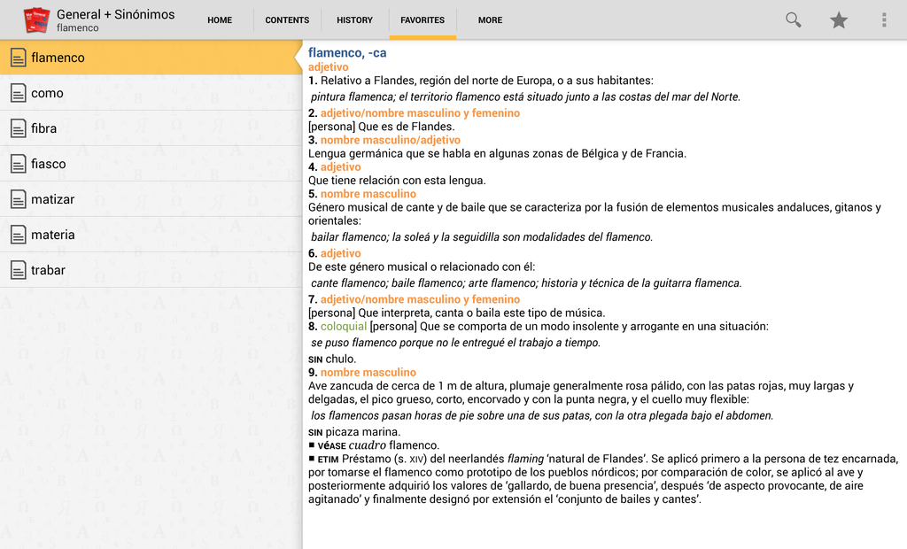 Vox General Spanish Dictionary and Thesaurus Screenshot 7