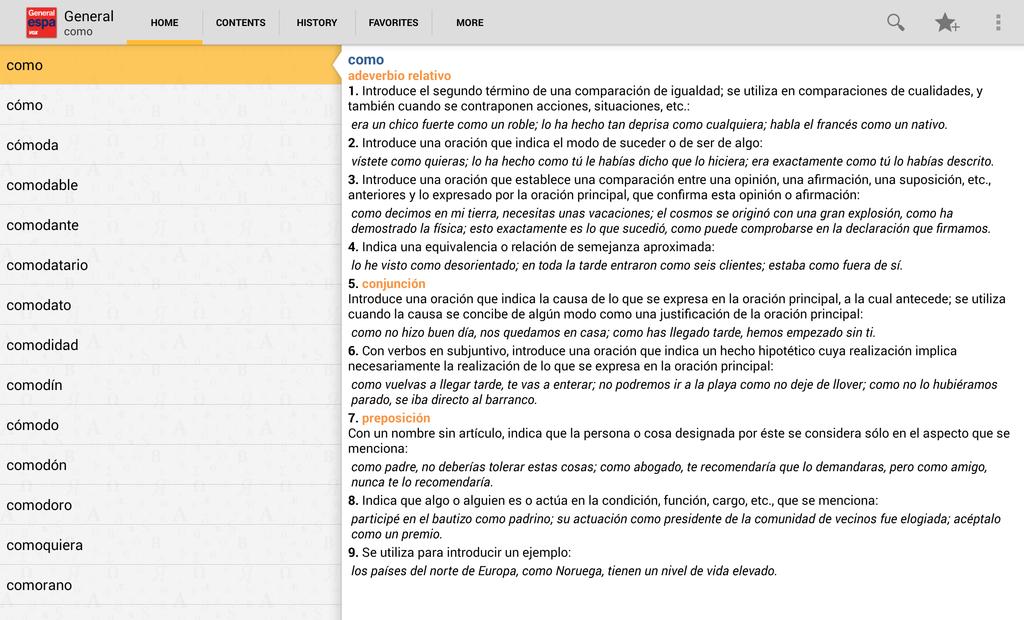 Vox General Spanish Language Dictionary Screenshot 6