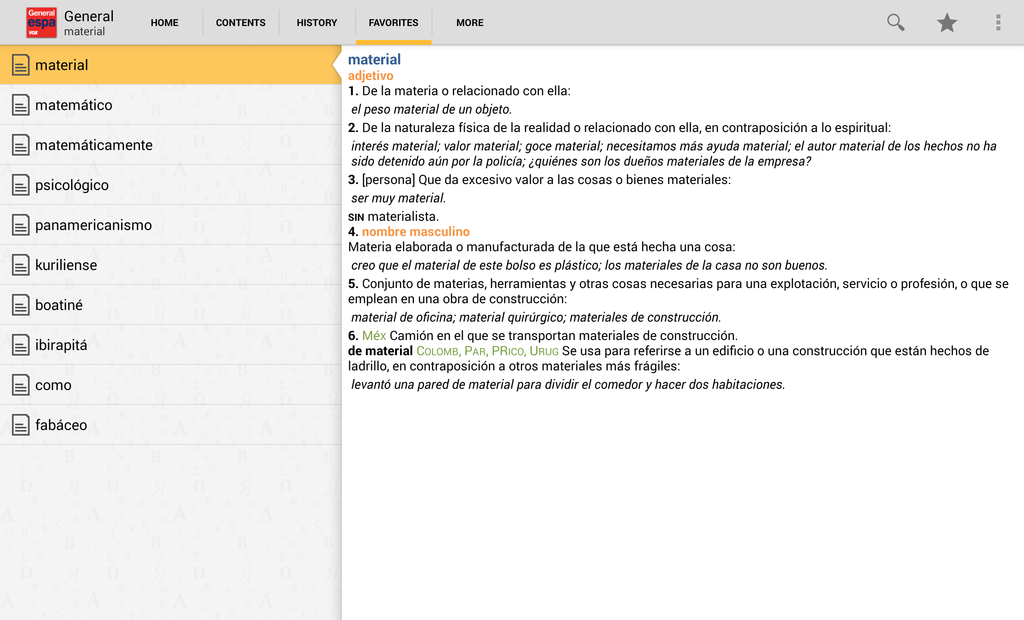 Vox General Spanish Language Dictionary Screenshot 8