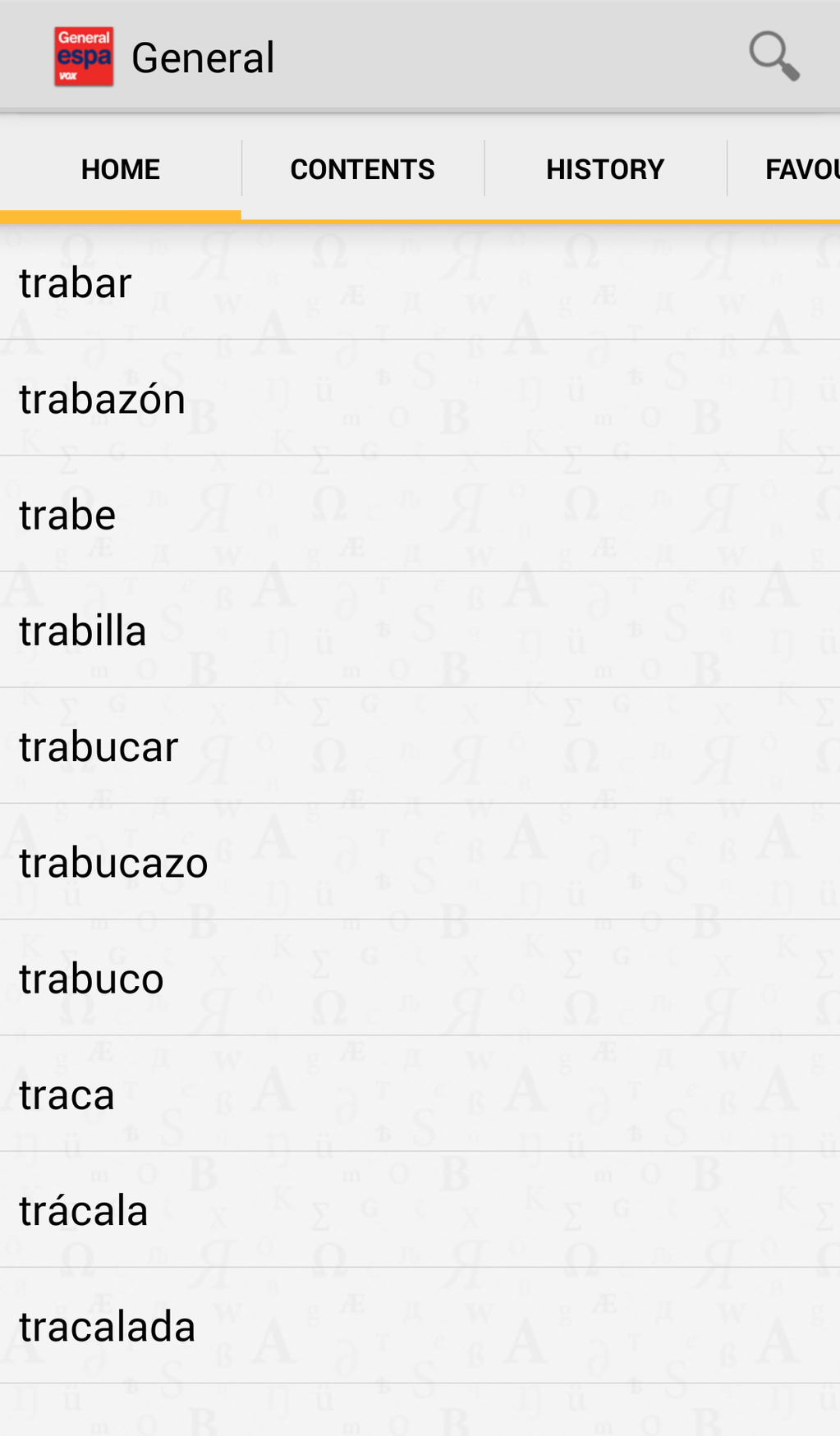 Vox General Spanish Language Dictionary Screenshot 4