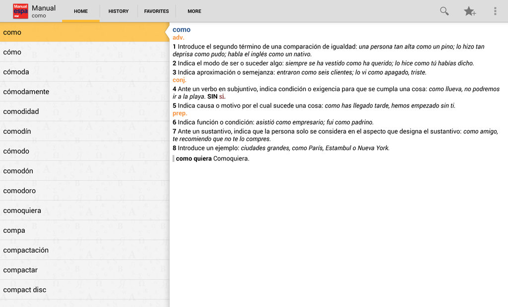 Vox Spanish Advanced Dictionary Screenshot 6