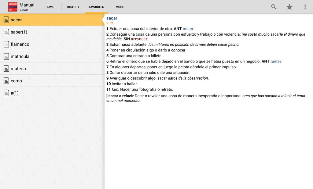 Vox Spanish Advanced Dictionary Screenshot 7