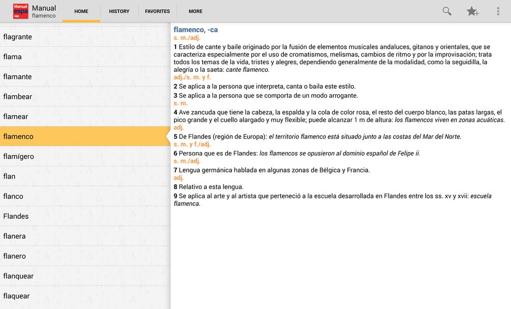 Vox Spanish Advanced Dictionary Screenshot 5