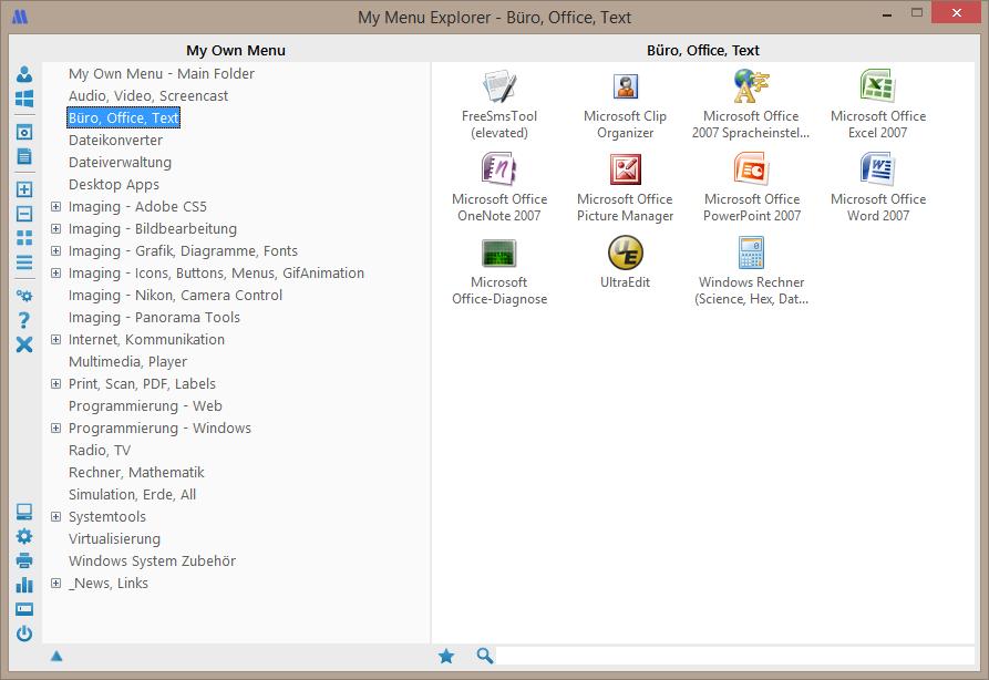 My Start Menu Screenshot