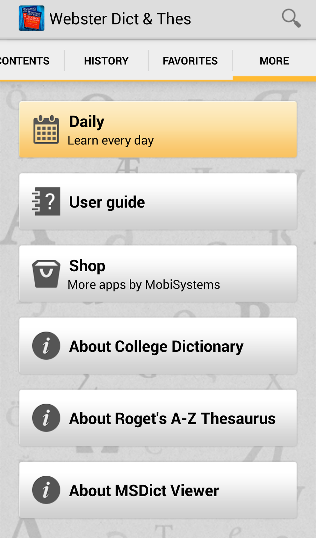 Webster's New World College Dictionary and Roget's A-Z Thesaurus Screenshot 5