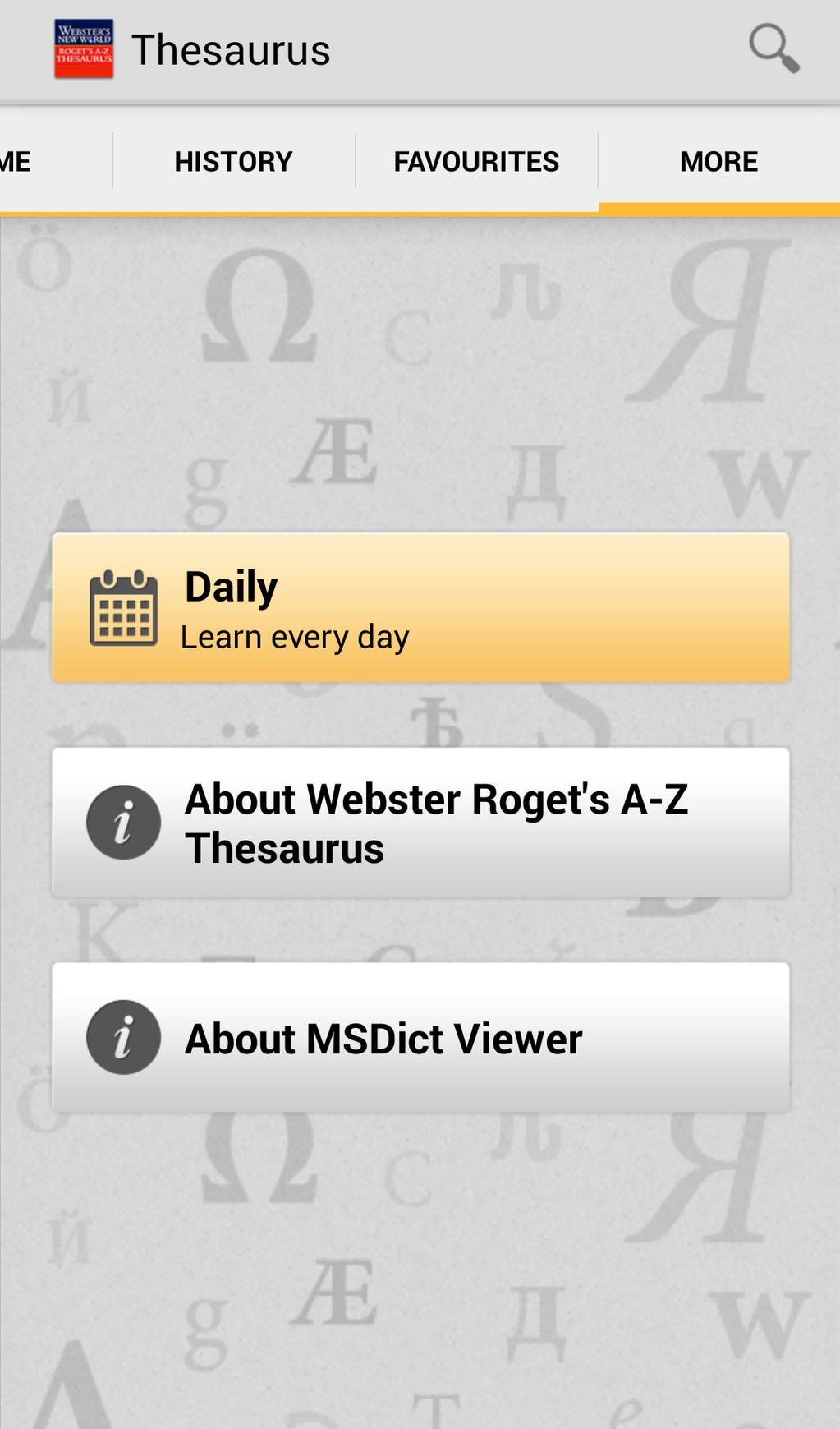 Webster's New World Roget's A-Z Thesaurus Screenshot 4