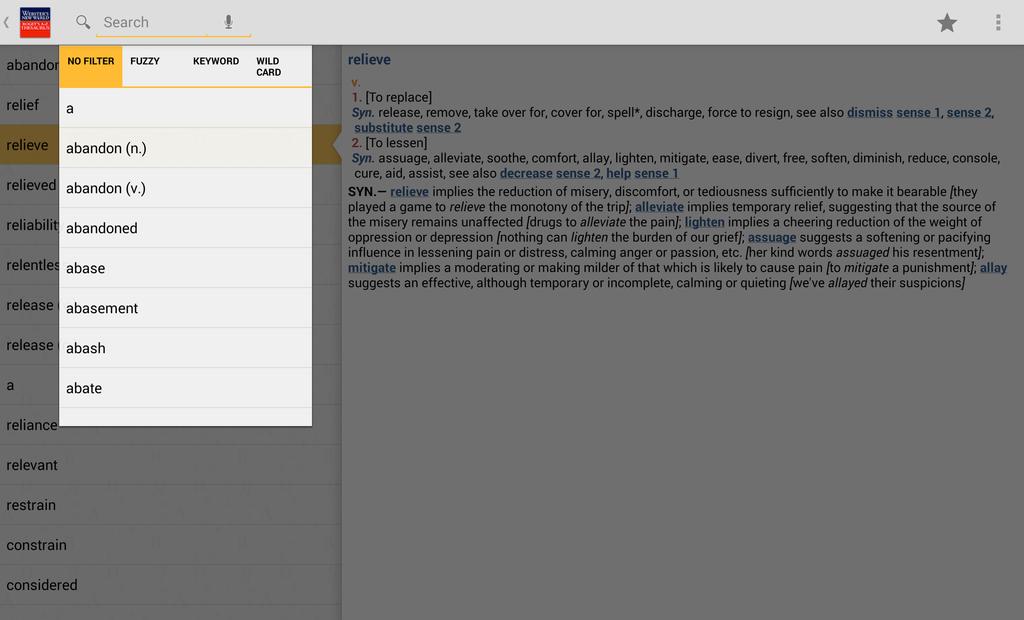 Webster's New World Roget's A-Z Thesaurus Screenshot 5