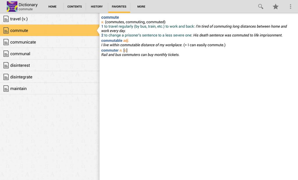 Kernerman Advanced English Dictionary Screenshot 5