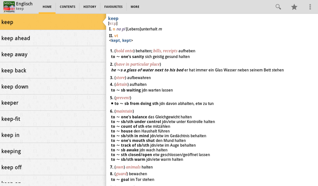 Dictionary English  German STANDARD Screenshot 5