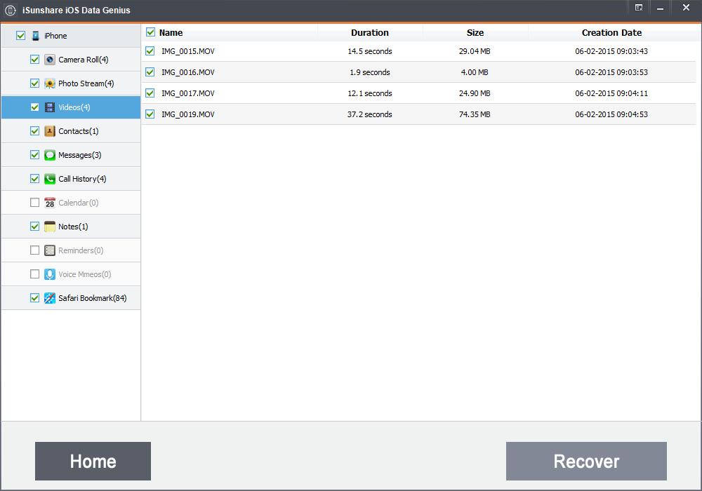 iSunshare iOS Data Genius Screenshot 3