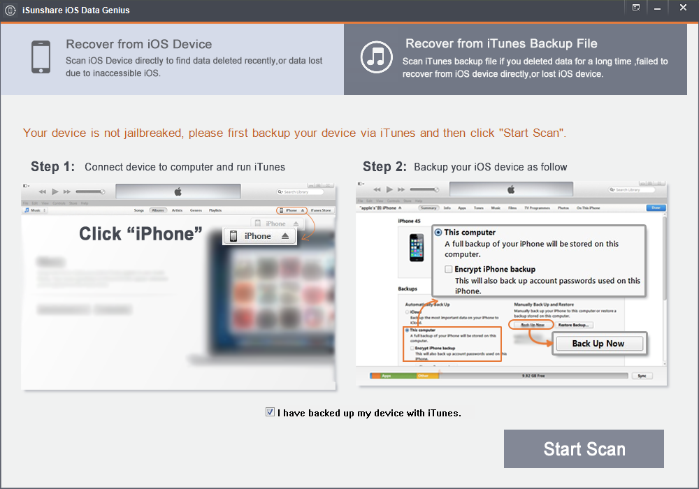 iSunshare iOS Data Genius Screenshot 2