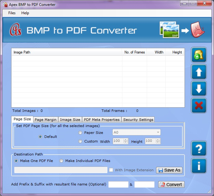 Apex BMP to PDF Converter Screenshot 1