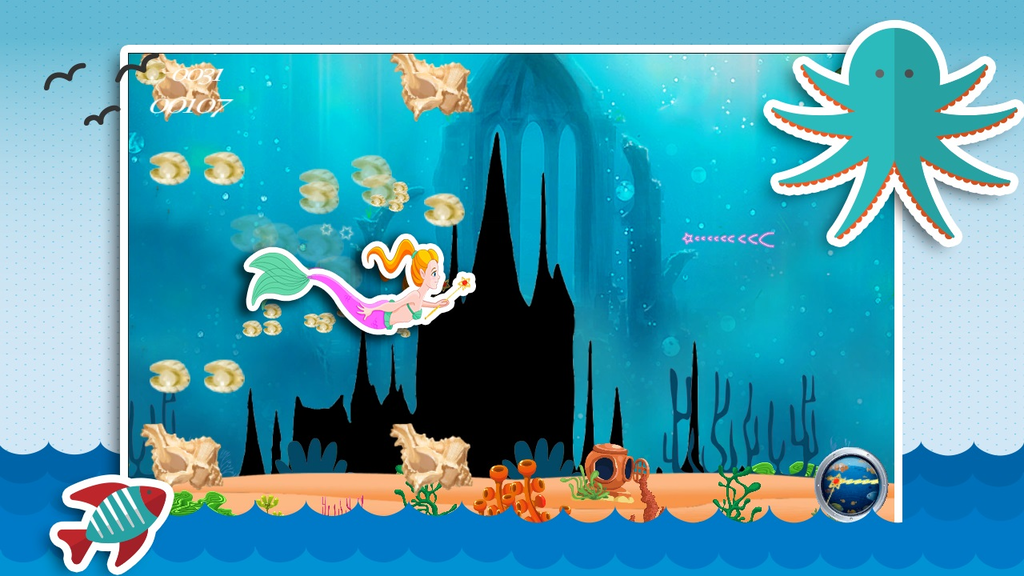 Aqua Little Mermaid Princess Screenshot 3