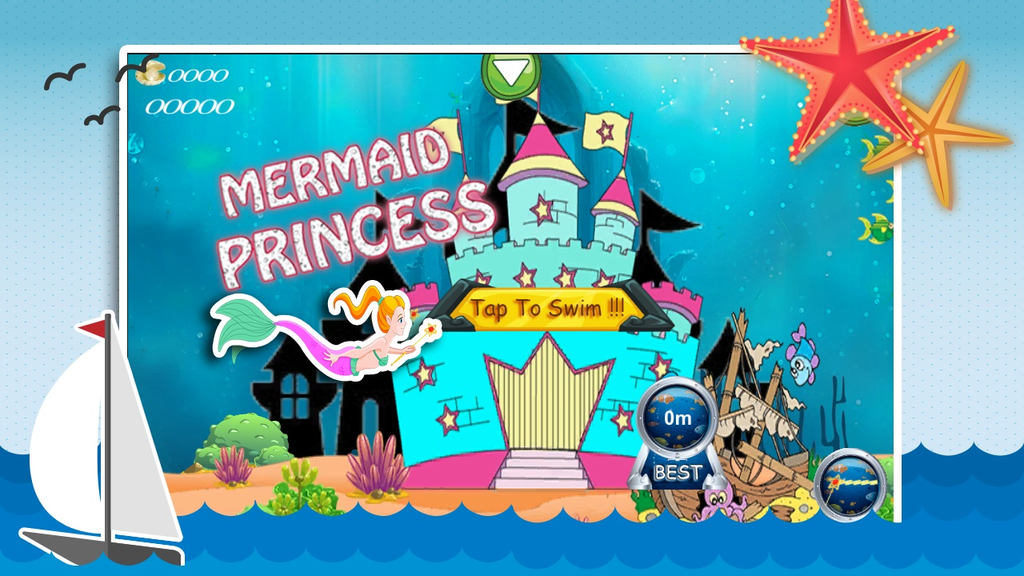 Aqua Little Mermaid Princess Screenshot
