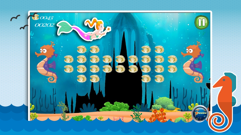 Aqua Little Mermaid Princess Screenshot 2