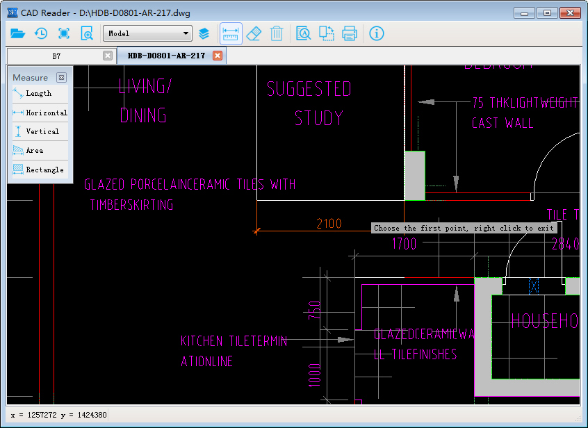 CAD Reader Screenshot 2