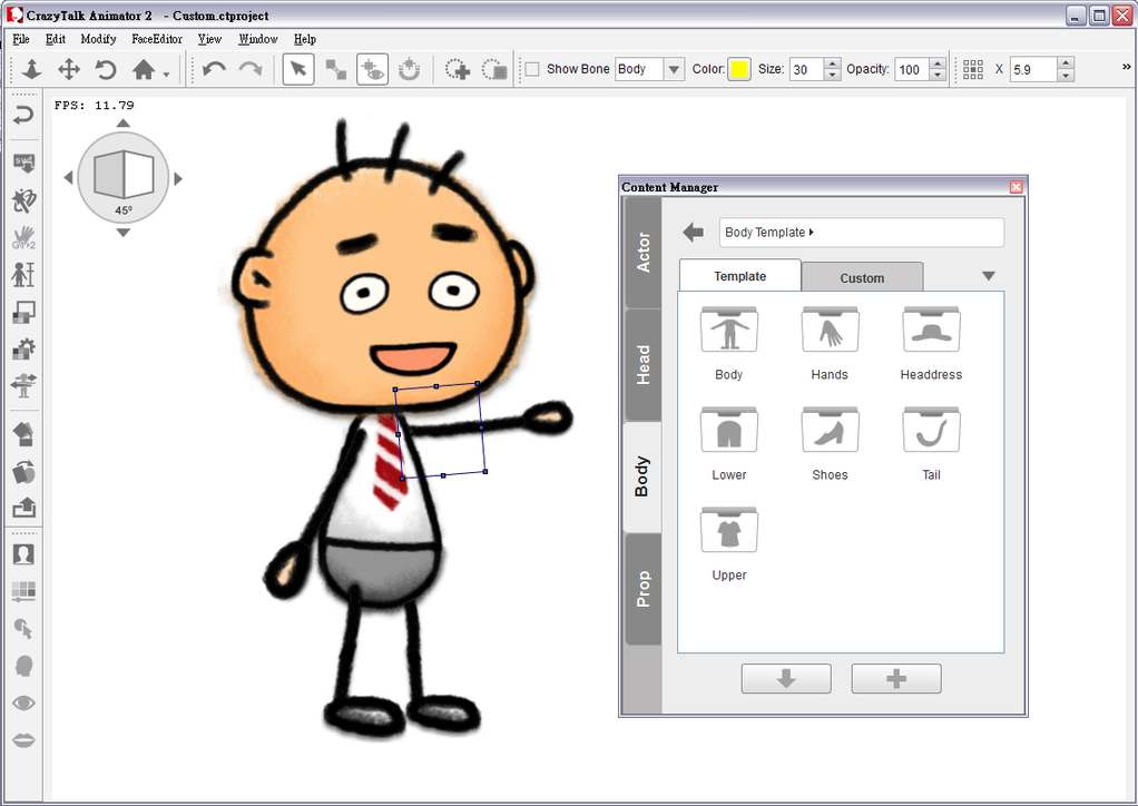 CrazyTalk Animator Screenshot