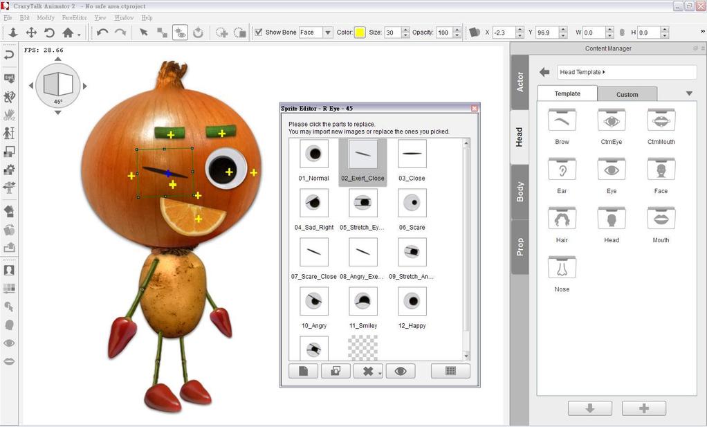 CrazyTalk Animator Screenshot 2