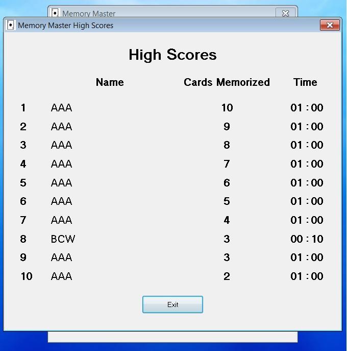 Memory Master Evaluation Version Screenshot 4