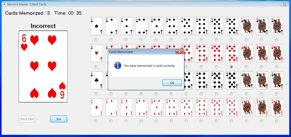 Memory Master Evaluation Version Screenshot 6