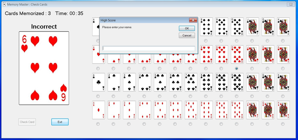 Memory Master Evaluation Version Screenshot 7