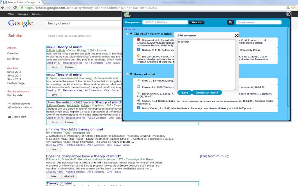 Scholar Manager Screenshot 3