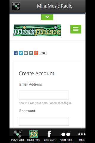 Mint Music Radio Screenshot 2