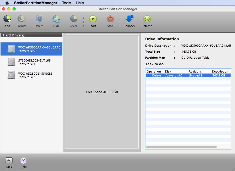 Stellar Partition Manager Screenshot 2