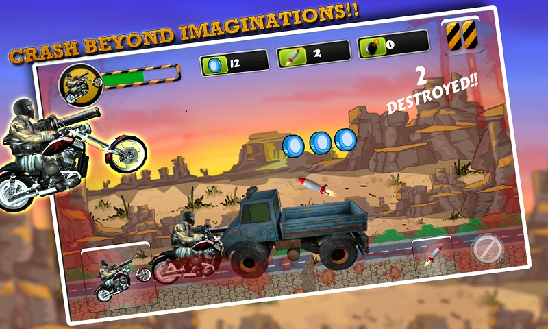 Biker Ninja : Quick Gun Escape Screenshot 8