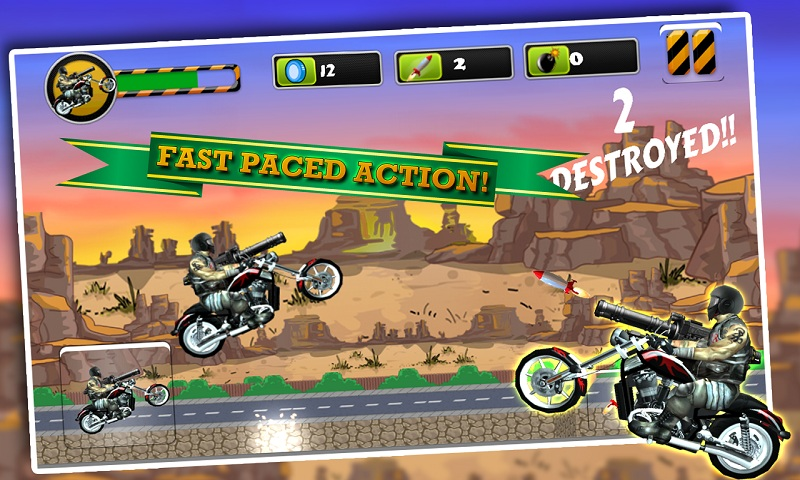 Biker Ninja : Quick Gun Escape Screenshot 2