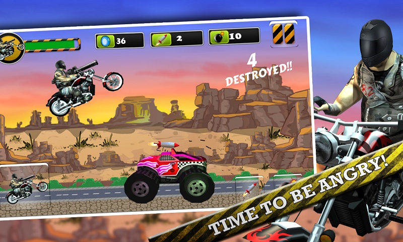 Biker Ninja : Quick Gun Escape Screenshot 5
