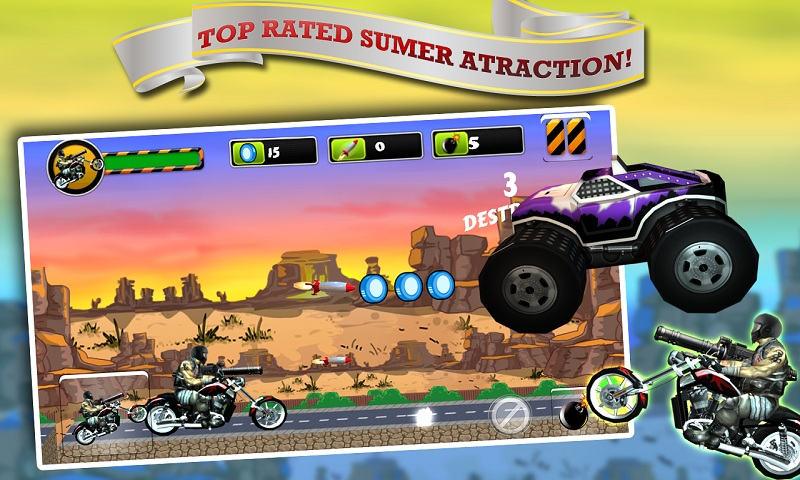 Biker Ninja : Quick Gun Escape Screenshot 4
