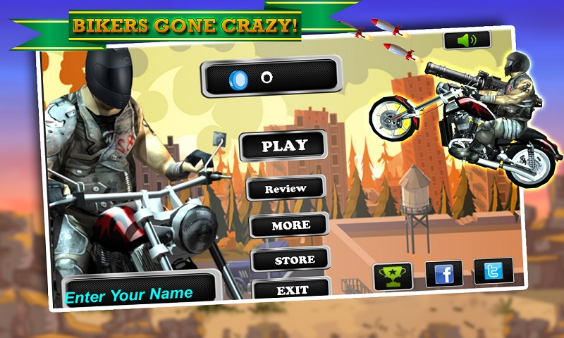 Biker Ninja : Quick Gun Escape Screenshot 1