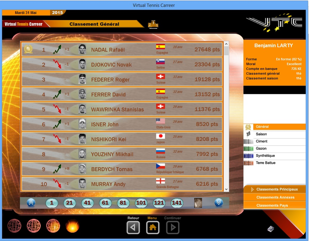 Virtual Tennis Carreer 2015 Screenshot 2
