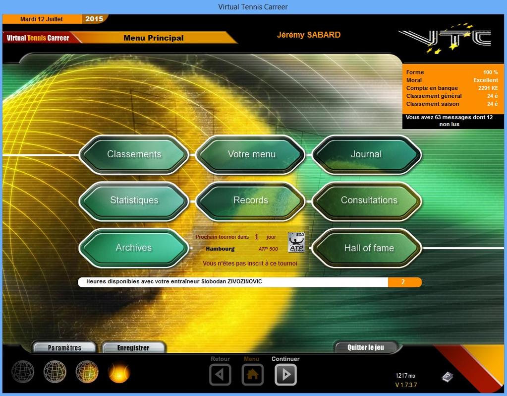 Virtual Tennis Carreer 2015 Screenshot 9