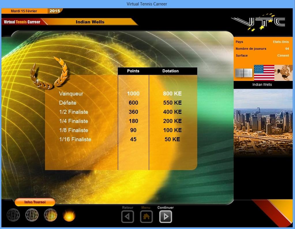Virtual Tennis Carreer 2015 Screenshot 7