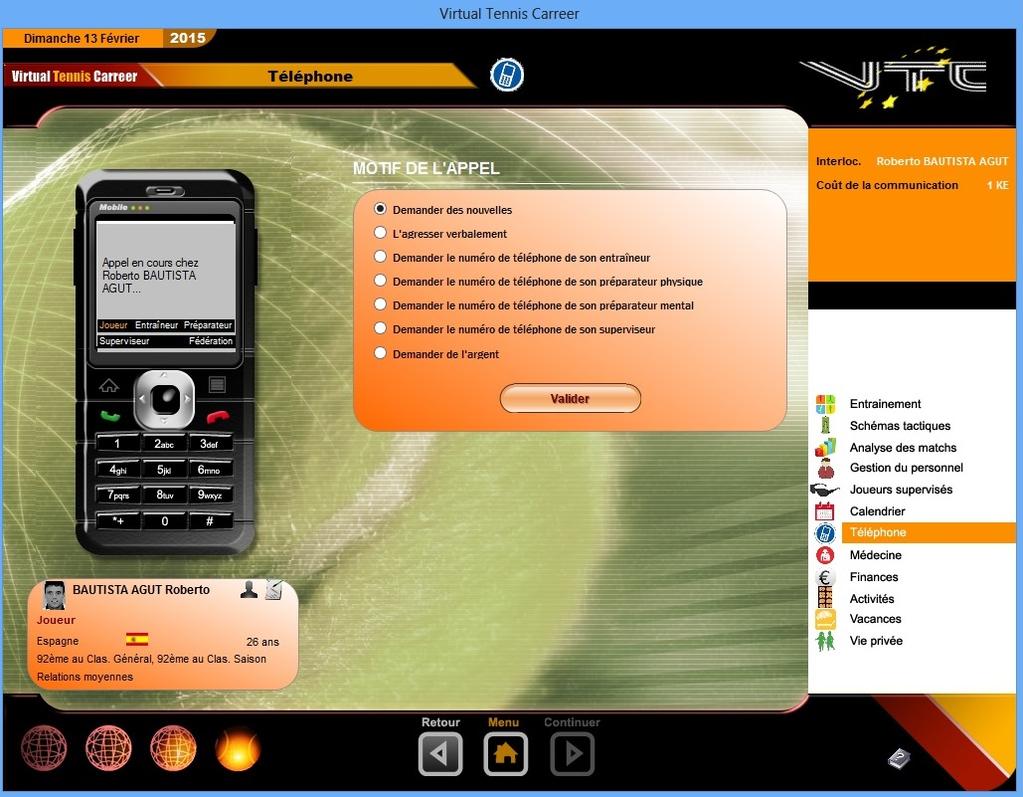 Virtual Tennis Carreer 2015 Screenshot 6