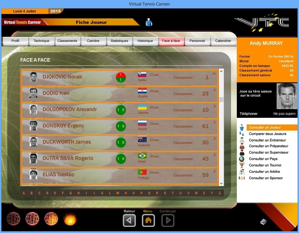 Virtual Tennis Carreer 2015 Screenshot 10