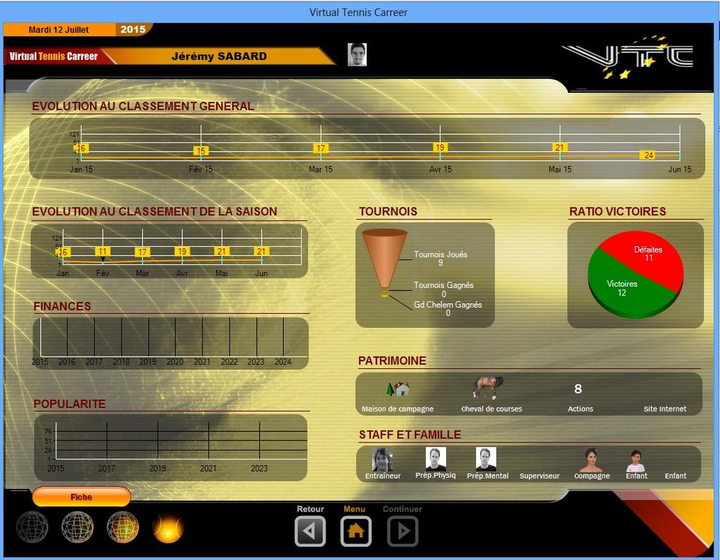 Virtual Tennis Carreer 2015 Screenshot 5