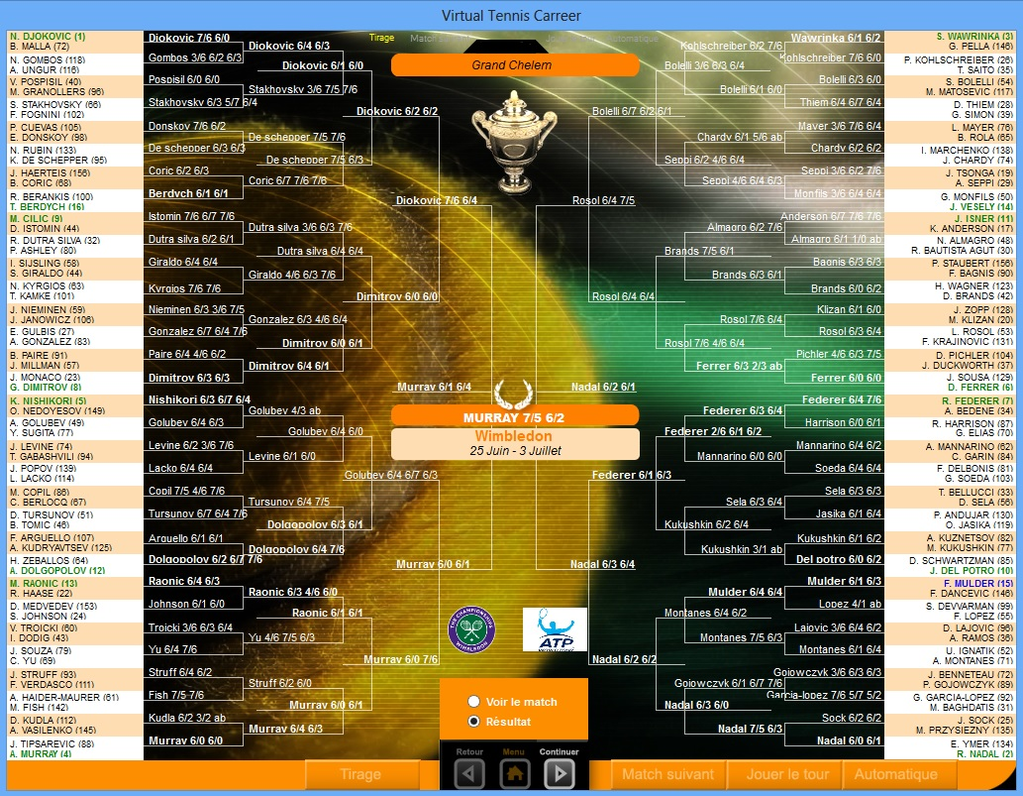 Virtual Tennis Carreer 2015 Screenshot 8