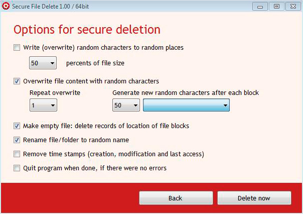 CompuRocket Secure File Delete Screenshot