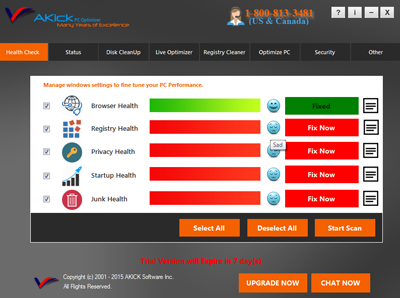AKick PC Optimizer Screenshot