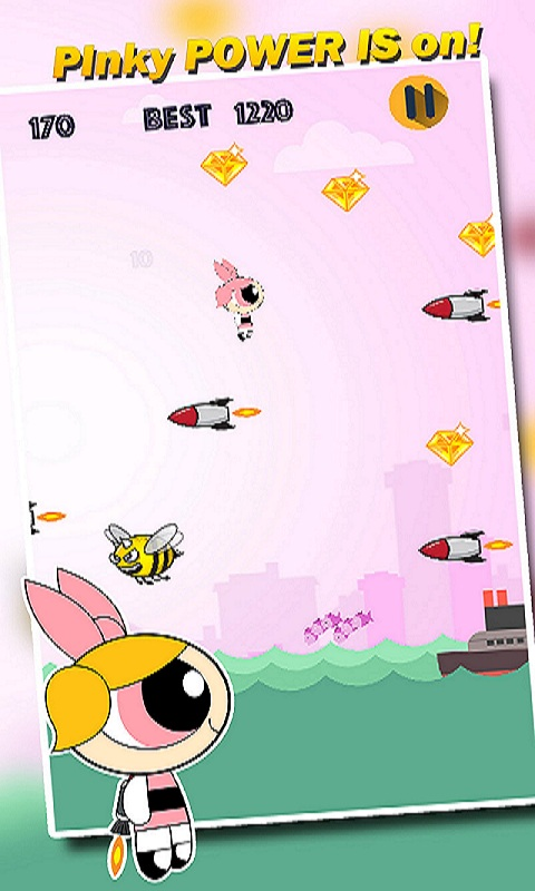 Rocket Girl : Flying Challenge for Pink Princess Screenshot